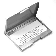 Brushed Silver Plated Business Card Holder