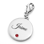 Chic Silver Personalized Birthstone Jewelry Charm