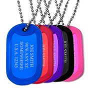 Colorful Aluminum Custom Dog Tags