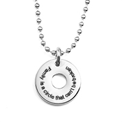Contemporary Personalized Circle Charm Necklace