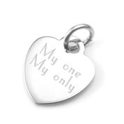 Elena Personalized Silver Heart Pendant Charm