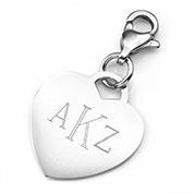 Custom Engraved Heart Charm