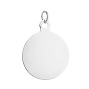 Personalize Pendant Round Stainless