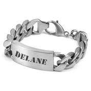 Large Links Mens Engraved Bracelets
