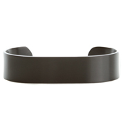Black Stainless Personalized Cuff Bracelet Small