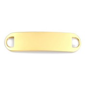 Tag for Custom Bracelets - Gold Plated