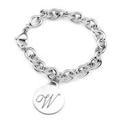 Silver Personalized Charm Bracelet