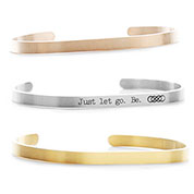 Dainty Cuff Engravable Bracelets for Her