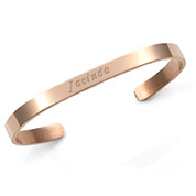 Chic Rose Gold Cuff Engraved Bracelets for Her