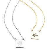 Square Mini Personalized Necklaces