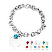 Custom Bracelet Personalized Birthstone Jewelry