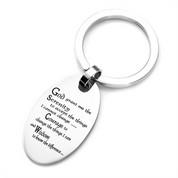 Serenity Prayer Engraved Keychains