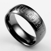 US Air Force Black Steel Custom Rings