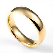 Polished Shine Gold Engraved Rings