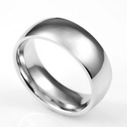 Custom Polished Silver Engravable Rings