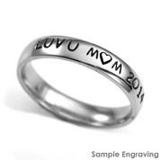 Custom Hand Stamped Steel Ring