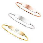 Jenna Bangle Engravable Bracelets for Her