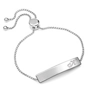 Personalized Stainless Bolo Bracelet for Her