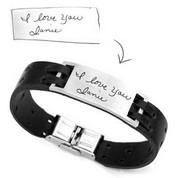 Custom Leather Handwriting Bracelets