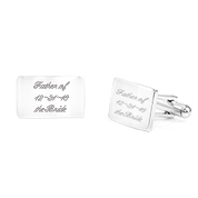 Engraved Cufflinks Polished Stainless Steel