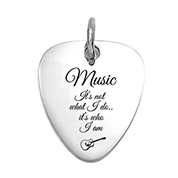 Custom Engraved Guitar Pick Pendant