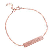 God First Rose Gold Bar Bracelet