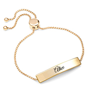 Gold Bolo Personalized Bracelet for Her