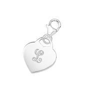 Heathers Sterling Silver Engraved Heart Charm