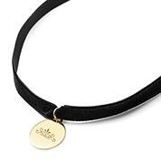 Jane Velvet Engraved Choker Necklace