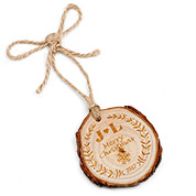 Merry Christmas Engraved Wood Ornament