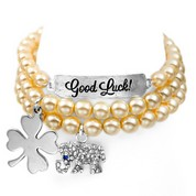 Good Luck! Silver Plated Charm Bracelets by John Wind