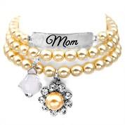 Mom Silver Plated Charm Bracelets by John Wind