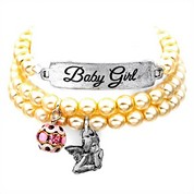 Baby Girl Silver Plated Charm Bracelets by John Wind