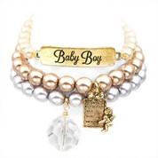 Baby Boy 24K Gold Plated Charm Bracelets by John Wind