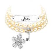 Mrs Silver Plated Charm Bracelets by John Wind