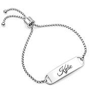 Kylie Adjustable Engraved Bracelet For Her