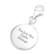 Lana Engraved Sterling Silver Charm for Bracelets