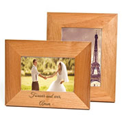 Alder Wood Personalized Picture Frames in 4 Sizes