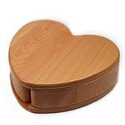 Maple Wood Engraved Heart Keepsake Box with Rotating Compartments