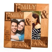Forever Yours & Mine Alder Wood Engraved Picture Frames