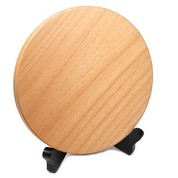 Engraved Wood Circle on Stand