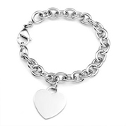 Links Heart Engravable Bracelets for Her