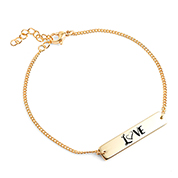 LOVE Custom Engraved Bracelet for Her