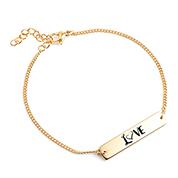 LOVE Custom Engraved Bracelet for Her