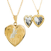 14K Gold Filled Butterfly Heart Personalized Locket Necklace