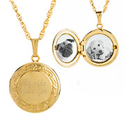 Ava 14K Gold Fine Border Engraved Locket
