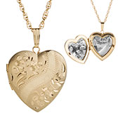 14K Gold Filled Ornate Heart Engraved Locket