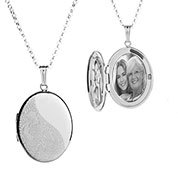 I Carried You Sterling Silver Engraved Locket Necklace