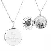 Sterling Silver Round 2 Photo Personalized Locket