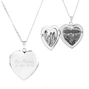 Sterling Silver Elegance Engraved Locket